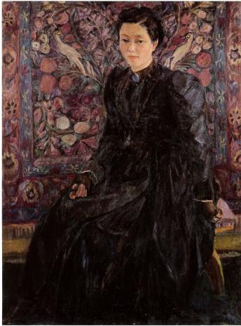 1958年 黒衣の婦人像 | 作品のご紹介 | 飯田弥生美術館
